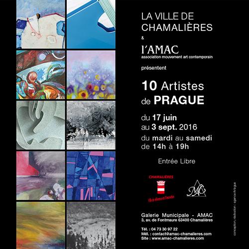 Catalogue exposition 10 artistes de Prague à l'AMAC - 63400 Chamalières